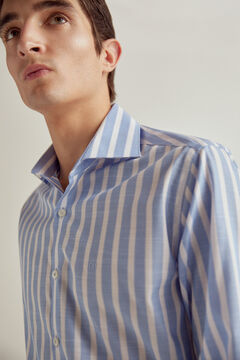 Pedro del Hierro Striped non-iron dress shirt Blue