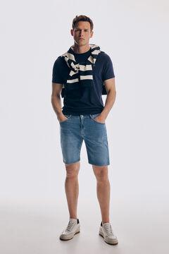 Pedro del Hierro Lightweight denim 5-pocket Bermuda shorts Blue