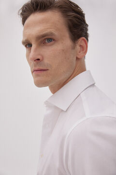 Pedro del Hierro Textured Travel Collection shirt White