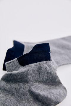 Pedro del Hierro Logo ankle socks Grey
