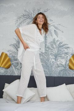 Pedro del Hierro Plumetis trousers White