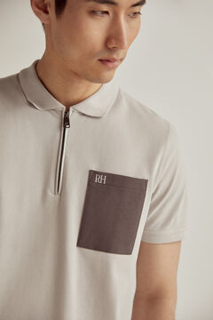Pedro del Hierro Short-sleeved PdH logo polo shirt Grey