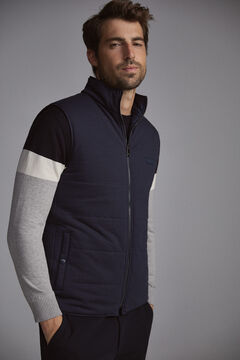 Pedro del Hierro Reversible gilet with zip Blue