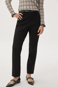 Pedro del Hierro Slim trousers with buttons Black