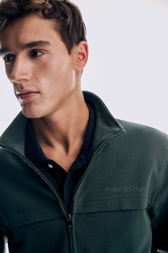 Pedro del Hierro Zipped sweatshirt Green