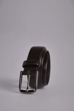 Pedro del Hierro Smooth sport leather belt Black