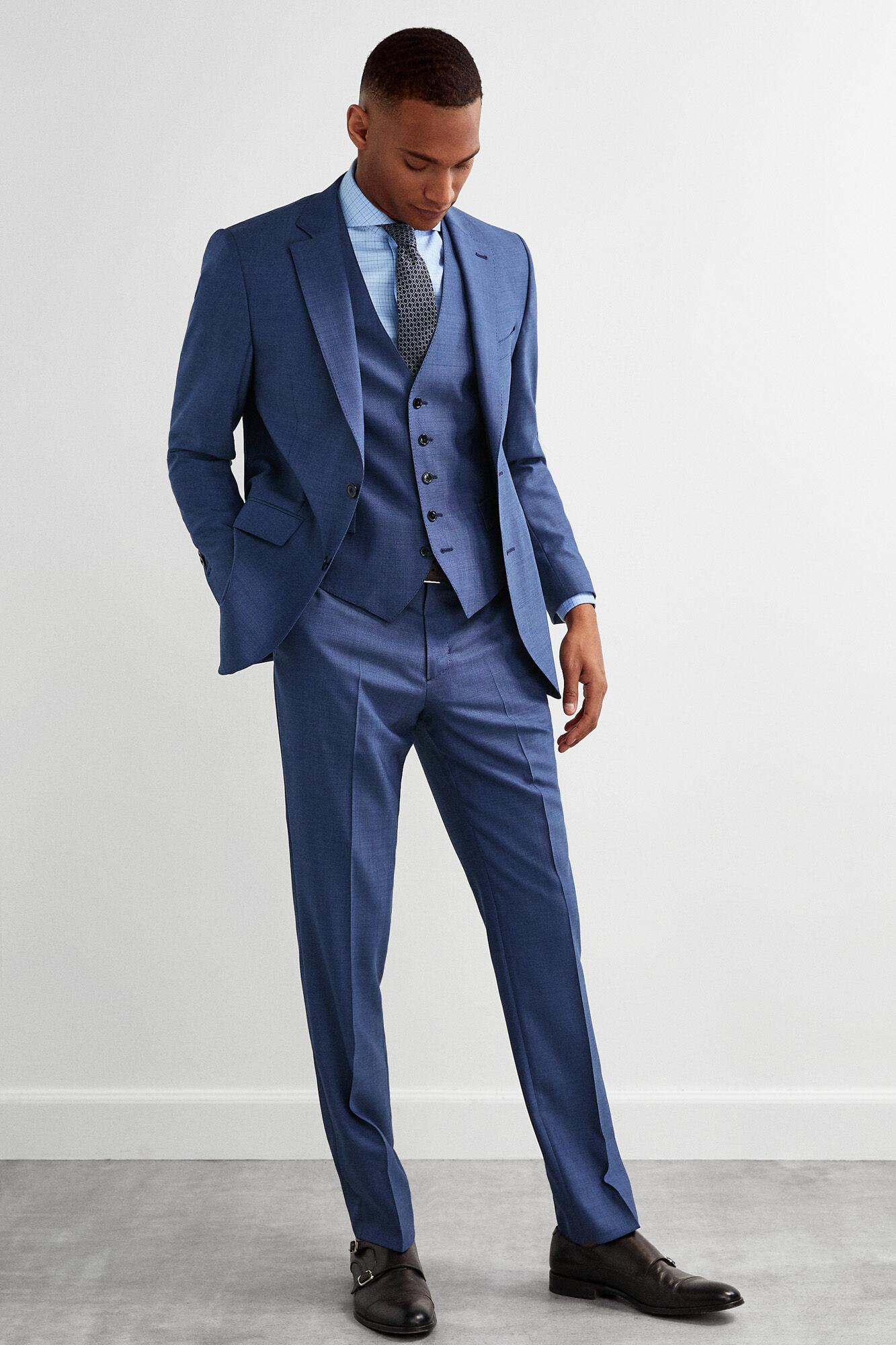 88e7403ad Pedro del Hierro Americana traje slim fit Azul