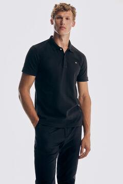 Pedro del Hierro Antivirus short sleeve slim fit polo shirt Black