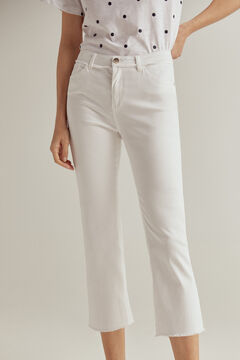 Pedro del Hierro Pantalón capri fit color White