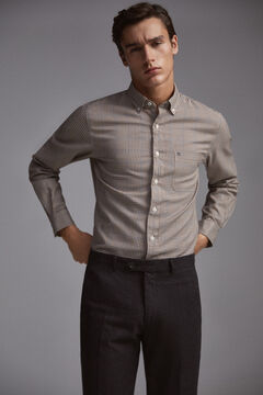 Pedro del Hierro Checked shirt Blue