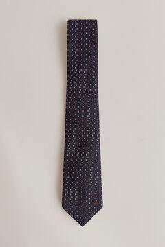 Pedro del Hierro Micro jacquard tie Blue