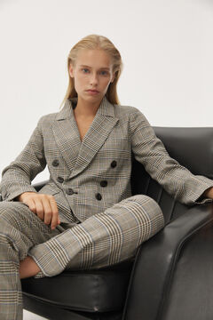 Pedro del Hierro Pleated trousers with button Grey