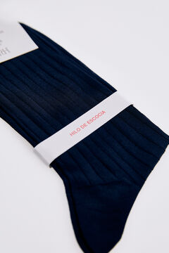 Pedro del Hierro Plain dress socks Blue
