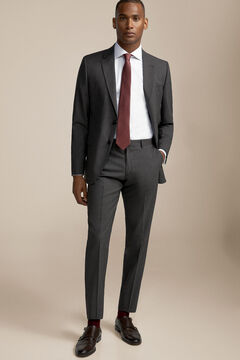 Pedro del Hierro Tailored fit suit trousers Grey