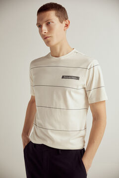 Pedro del Hierro Short-sleeved t-shirt Ecru