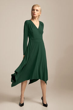 Pedro del Hierro V-neck dress Green