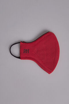 Pedro del Hierro Plain jersey-knit face mask Red