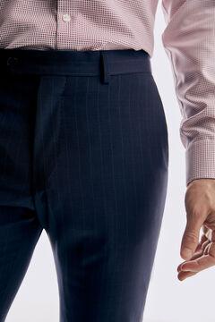 Pedro del Hierro Tailored fit striped trousers Blue