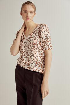 Pedro del Hierro ECOVERO printed blouse Brown