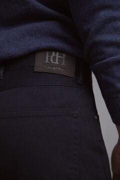 Pedro del Hierro Pantalón 5 bolsillos color micro estampado slim Blue