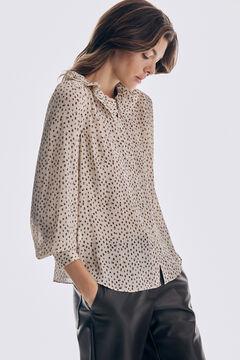 Pedro del Hierro Printed romantic blouse Ivory