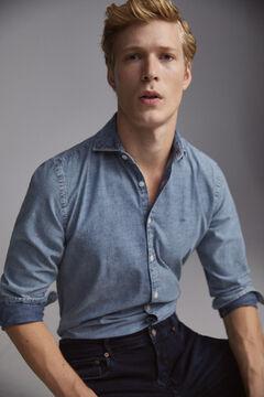 Pedro del Hierro Denim shirt  Blue