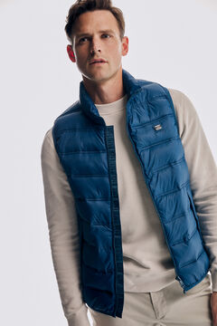 Pedro del Hierro Ultralight quilted gilet Burgundy