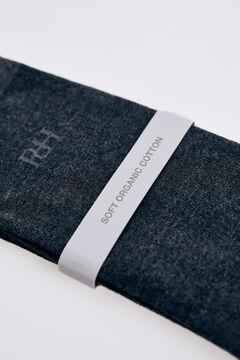 Pedro del Hierro Plain logo socks Grey