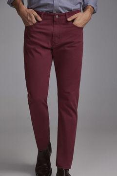 Pedro del Hierro Pantalón vaquero premium flex 5 bolsillos color slim Red