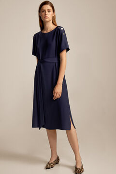 Pedro del Hierro Tie waist midi dress Blue