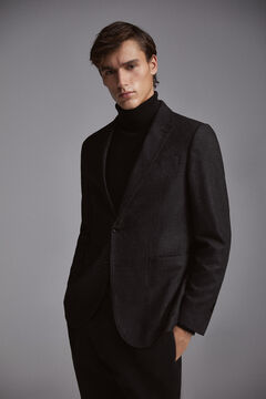 Pedro del Hierro Houndstooth wool blazer Grey