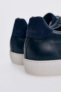 Pedro del Hierro Leather rubber-soled sneakers Blue