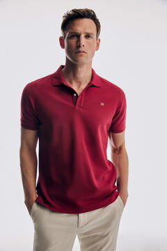 Pedro del Hierro Basic short sleeve polo shirt Red