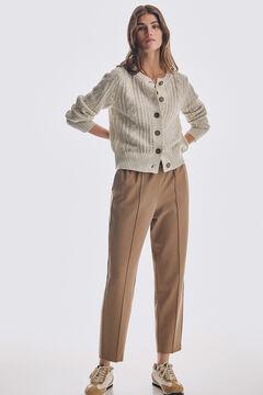 Pedro del Hierro Stretch jersey-knit jogger trousers Beige