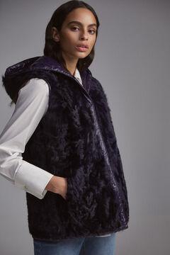 Pedro del Hierro Reversible leather vest Blue