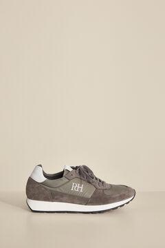 Pedro del Hierro Rubber-soled runner sneaker Grey