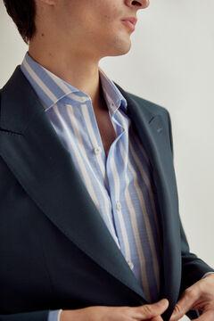 Pedro del Hierro Slim fit peaked lapel blazer Green