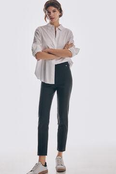 Pedro del Hierro TENCEL®Lyocell faux leather leggings Black