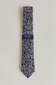 Pedro del Hierro Corbata estampada flores Azul