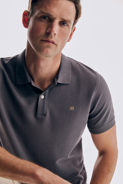 Pedro del Hierro Basic short sleeve polo shirt Grey