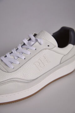 Pedro del Hierro Leather sneaker with logo White