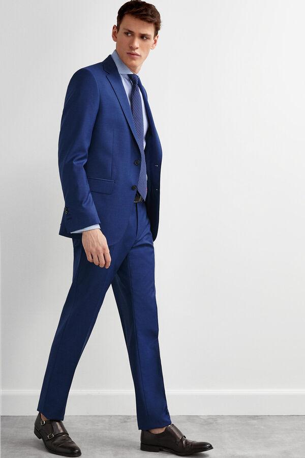 829ca02a0 Pedro del Hierro Americana traje microfantasía tailored fit Azul