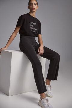 Pedro del Hierro Pantalon tejido tecnico melange Black