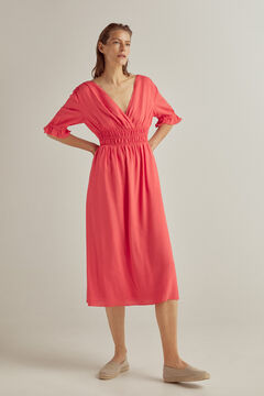 Pedro del Hierro Long dress with ruffles Red