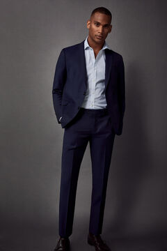 Pedro del Hierro Slim fit suit trousers Blue