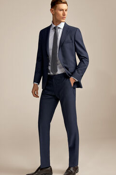 Pedro del Hierro Pantalón microdibujo azul tailored fit Blue