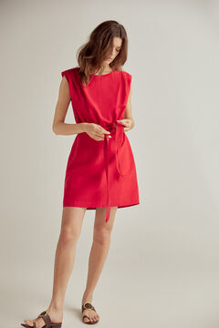 Pedro del Hierro Short dress with shoulder pads Red