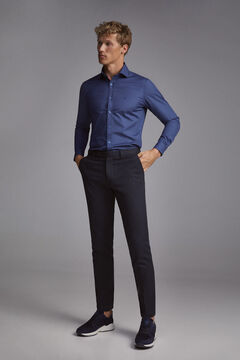 Pedro del Hierro Plain Travel Collection shirt Blue