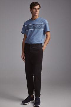 Pedro del Hierro Camiseta manga corta logo Blue