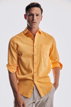 Pedro del Hierro Camisa estructura tintada algodón orgánico Red